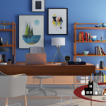 Best color for productivity, color psychology in the workplace, how color affects office productivity, creativity, color schemes, living room