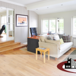 How to choose the right flooring, laminate flooring, tile vs. laminate in the kitchen, types of flooring, wood look, living room, bathroom
